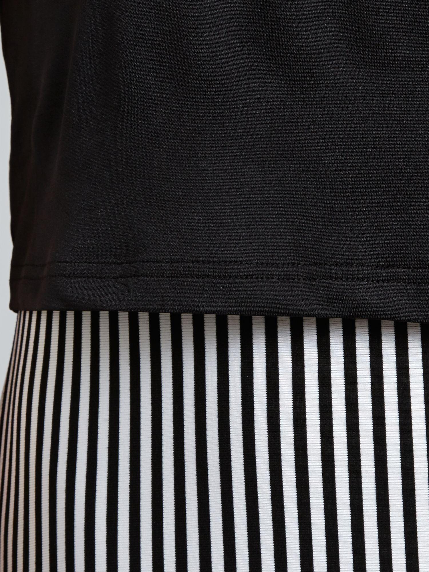 Pussycat Monochrome Stripe Layer Maxi Dress in Black & White (Black)