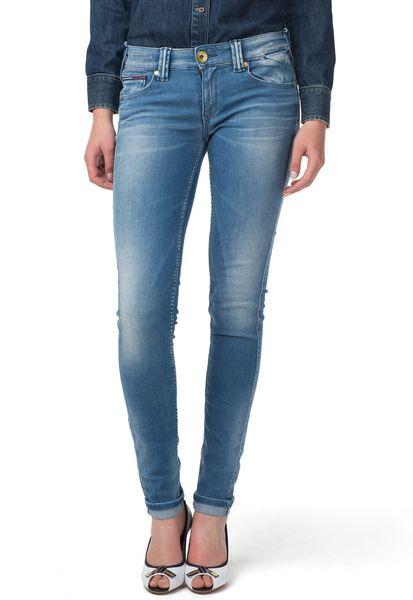 tommy hilfiger sophie super slim fit jeans in blue. Black Bedroom Furniture Sets. Home Design Ideas