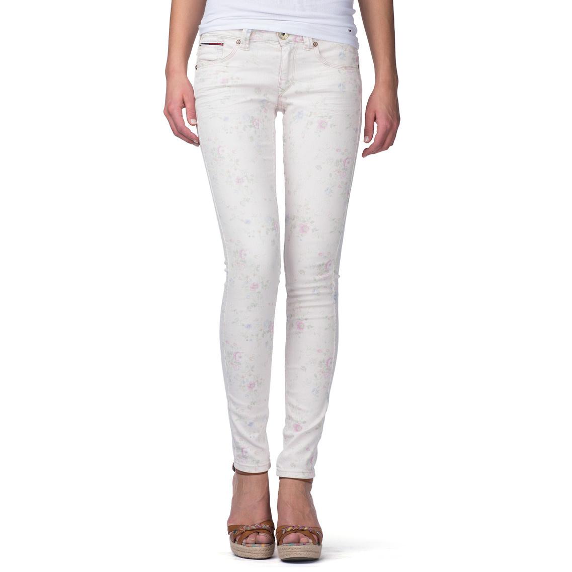 tommy hilfiger sophie super slim fit jeans in white lucie. Black Bedroom Furniture Sets. Home Design Ideas