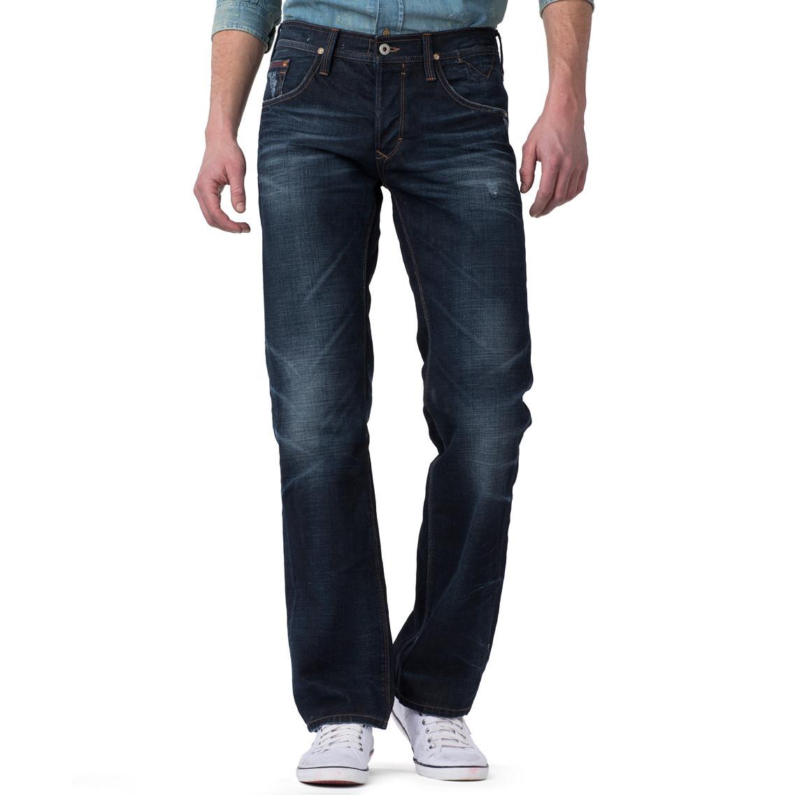 tommy hilfiger wilson straight leg jeans in blue for men. Black Bedroom Furniture Sets. Home Design Ideas