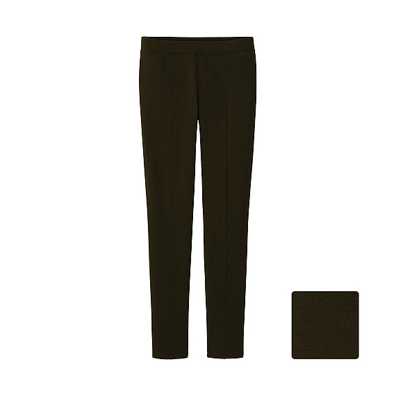Uniqlo Ponte Leggings Pants In Green (OLIVE)