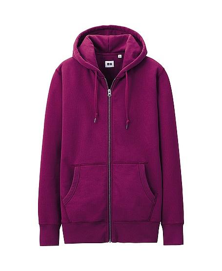 Uniqlo Sweat Full Zip Long Sleeve Hoodie In Purple For Men