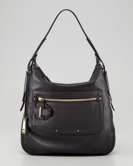 fe44aad273 10 Crosby Derek Lam Crosby Small Leather Hobo Bag Black in Black