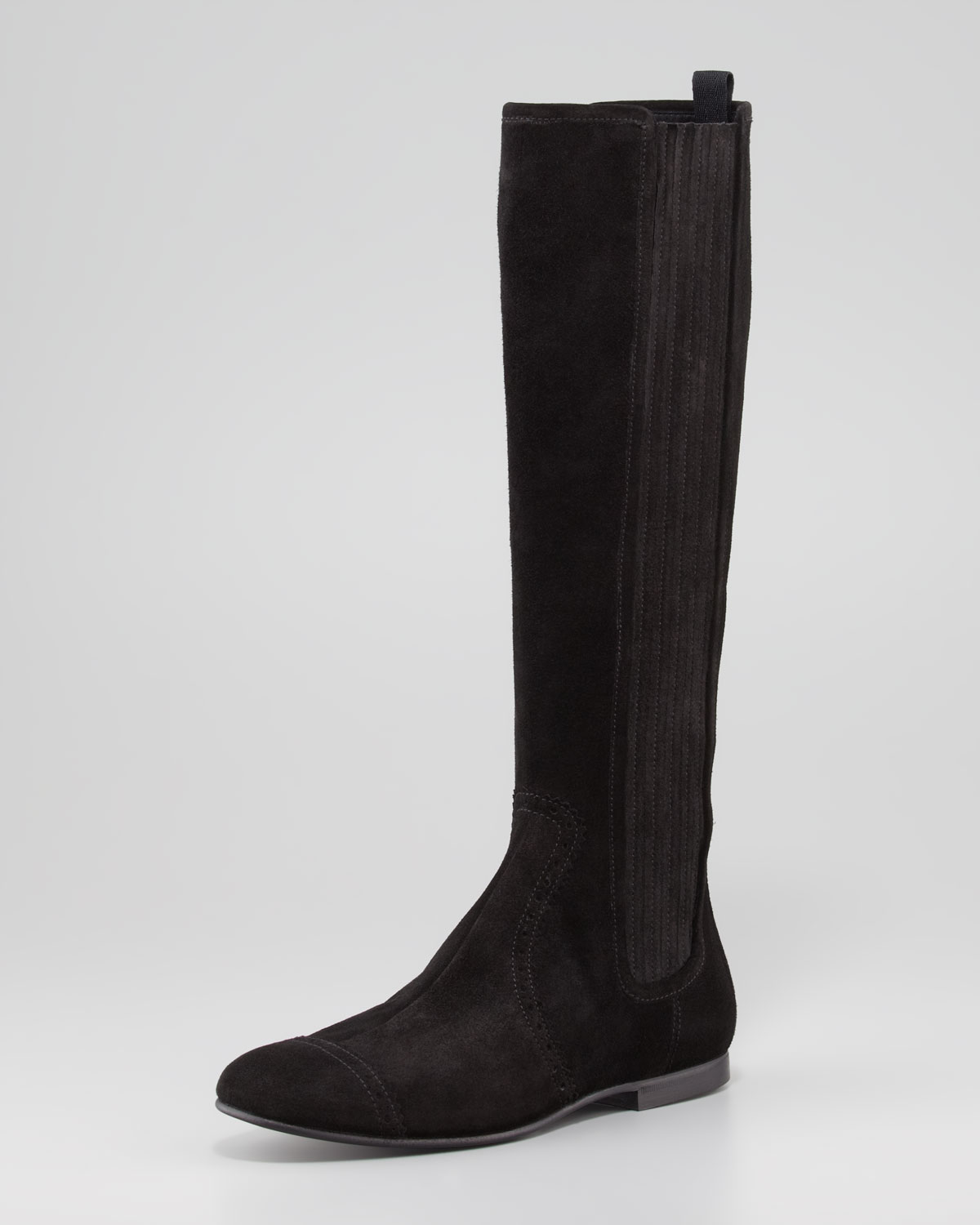 black suede knee boots flat \u003e Up to 70