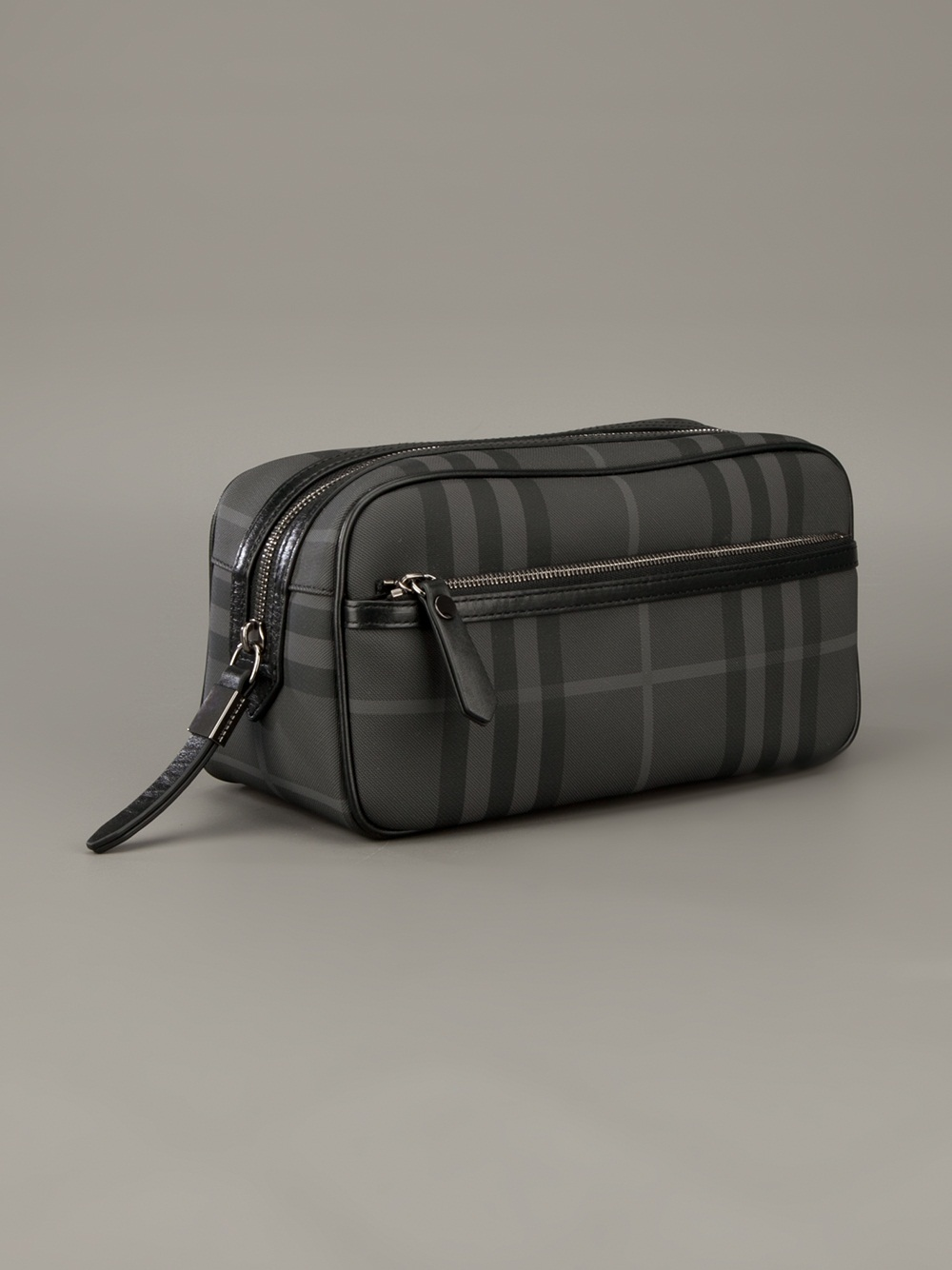Lyst - Burberry Brit Checked Wash Bag in Gray for Men 23df11742af98