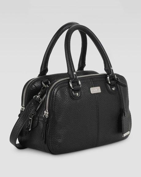 Cole Haan Village Small Triple Zip Satchel Bag Black In