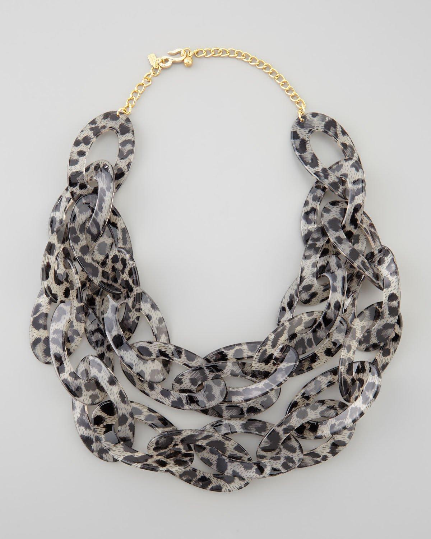 kenneth strand leopard print enamel