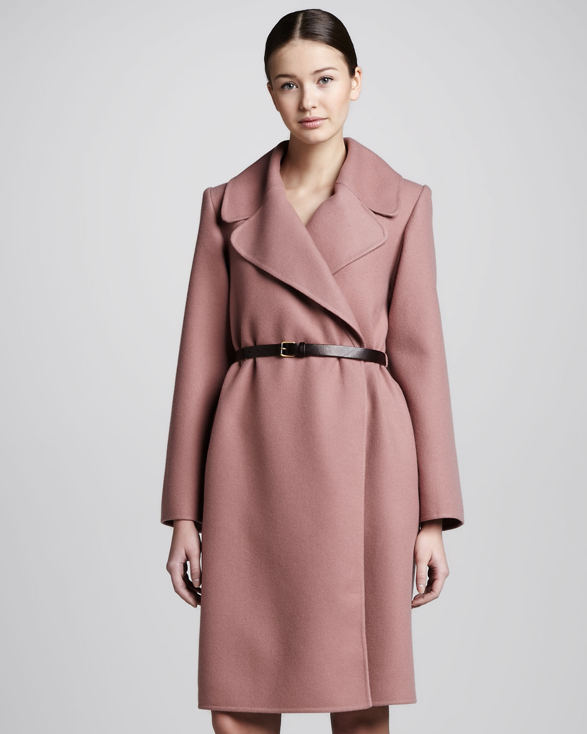 Marc jacobs Doubleface Cashmere Coat Rose in Pink | Lyst