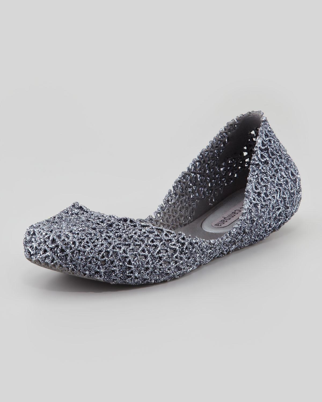 265032aa3ac Melissa Melissa Campana Papel Iii Glitter Jelly Flats Gray in Gray ...