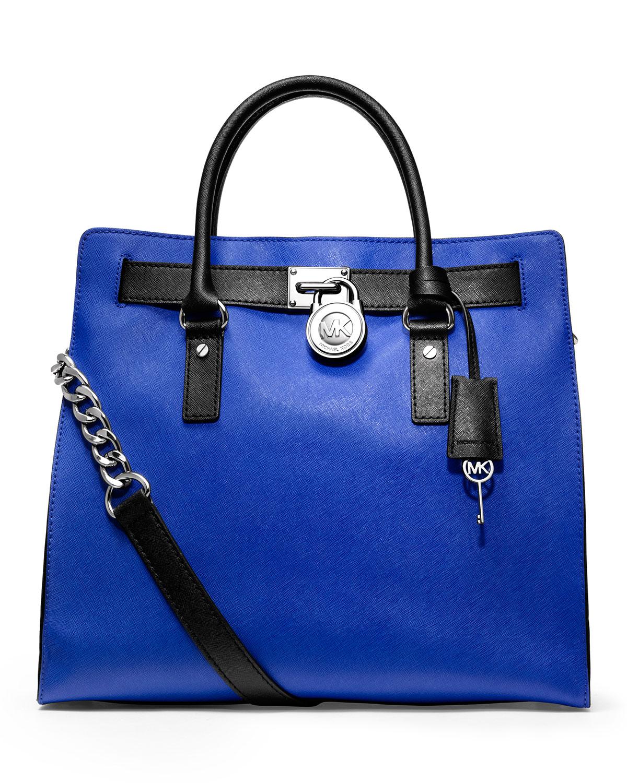 michael kors blue and black bag
