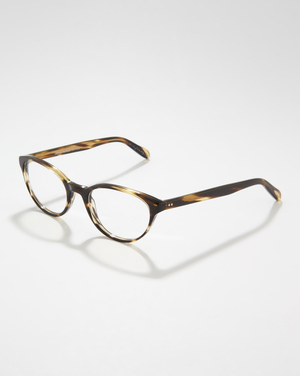 b7e68d91bf31d Lyst - Oliver Peoples Lilla Thin Cateye Fashion Glasses in Brown for Men