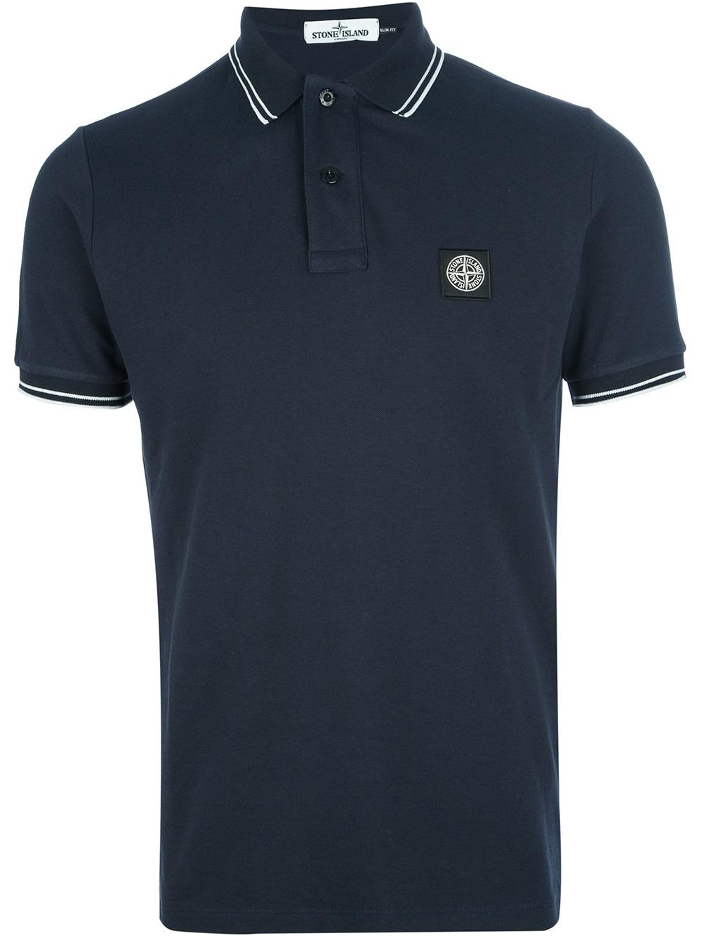 Stone Island Polo T-Shirt Navy