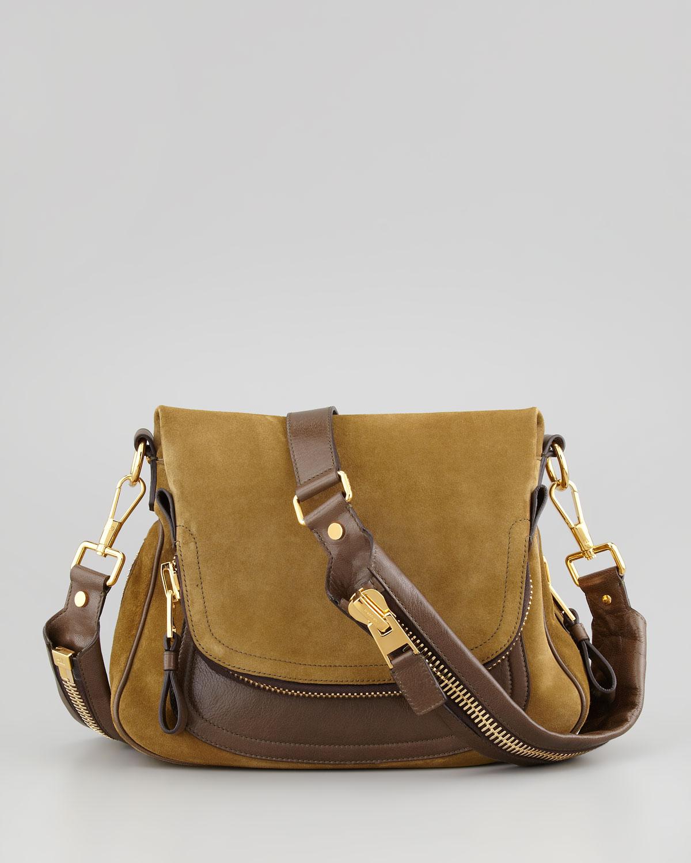 705ae79bb8 Lyst - Tom Ford Jennifer Medium Leather Crossbody Bag in Brown