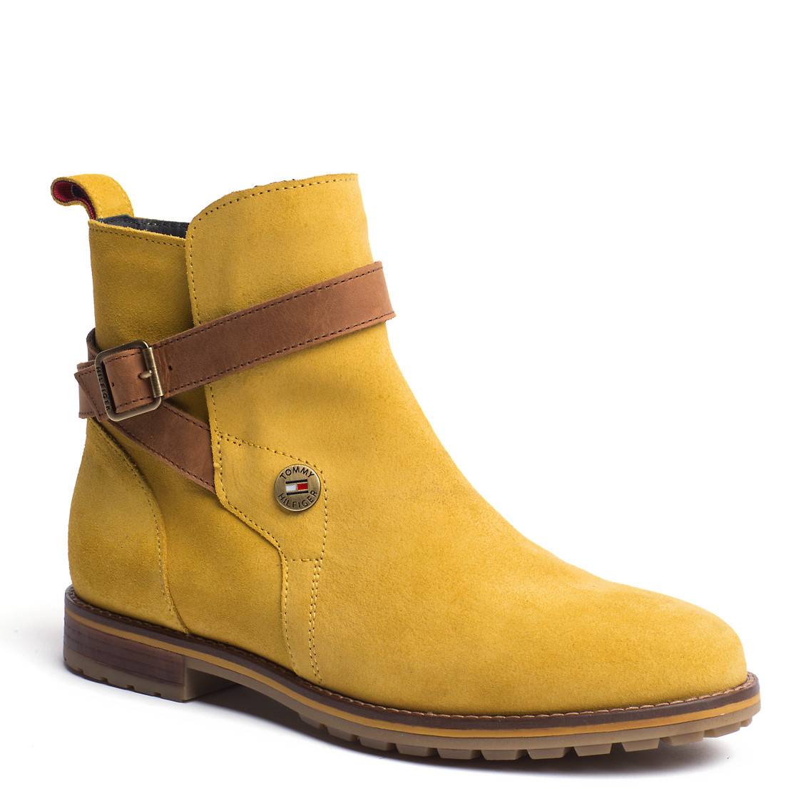 tommy hilfiger winona ankle boots in yellow lemon curry. Black Bedroom Furniture Sets. Home Design Ideas