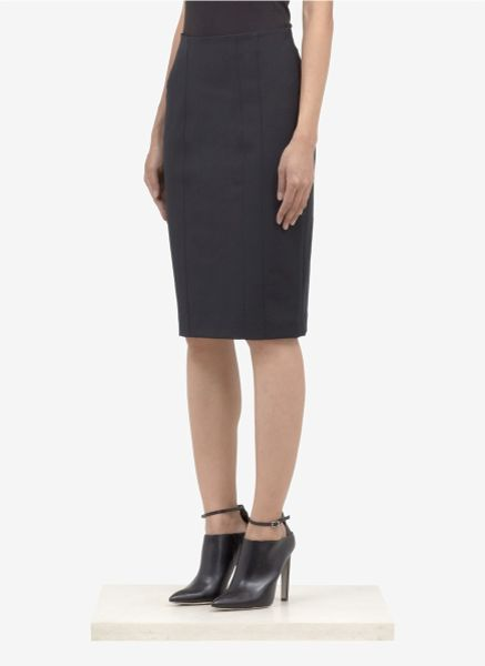 armani stitcheddetail stretch cottonblend pencil skirt in