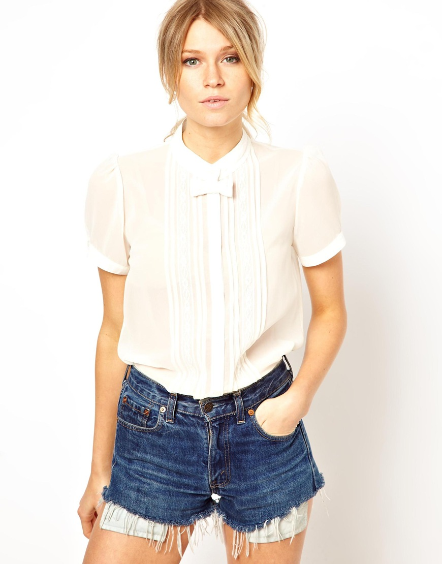 White Bow Blouse H&M 109