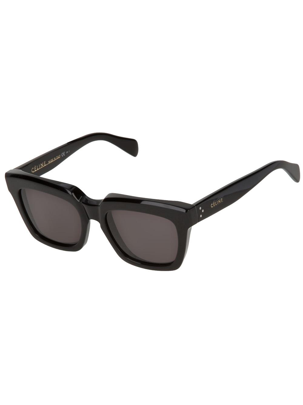 abcd7eb434f Lyst - Céline Square Sunglasses in Black