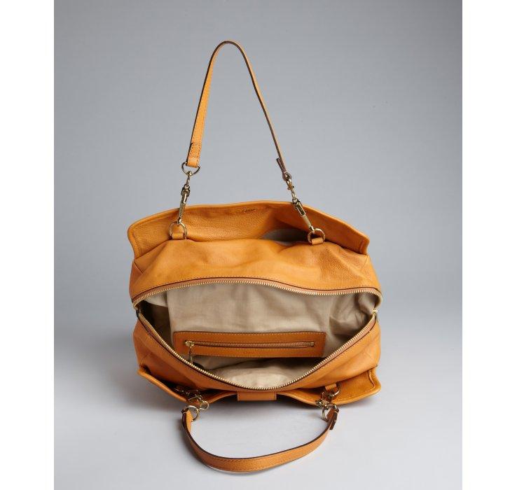 Chlo¨¦ Camel Leather Elsie Tote in Orange (camel)   Lyst