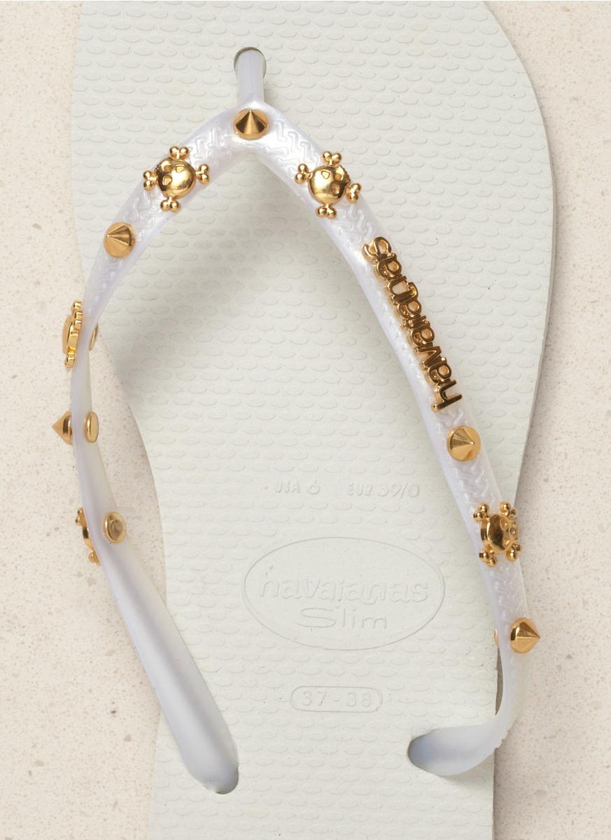 Lyst Havaianas Slim Hardware Flip Flops In White