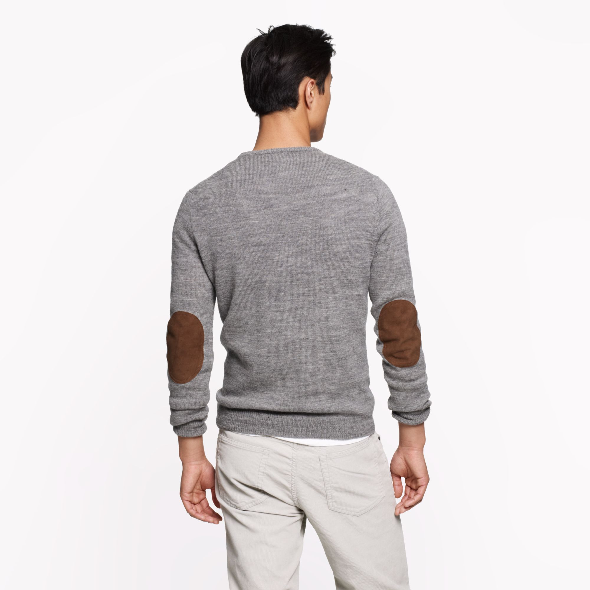 Mens Jumper With Elbow Patches - Cashmere Sweater England