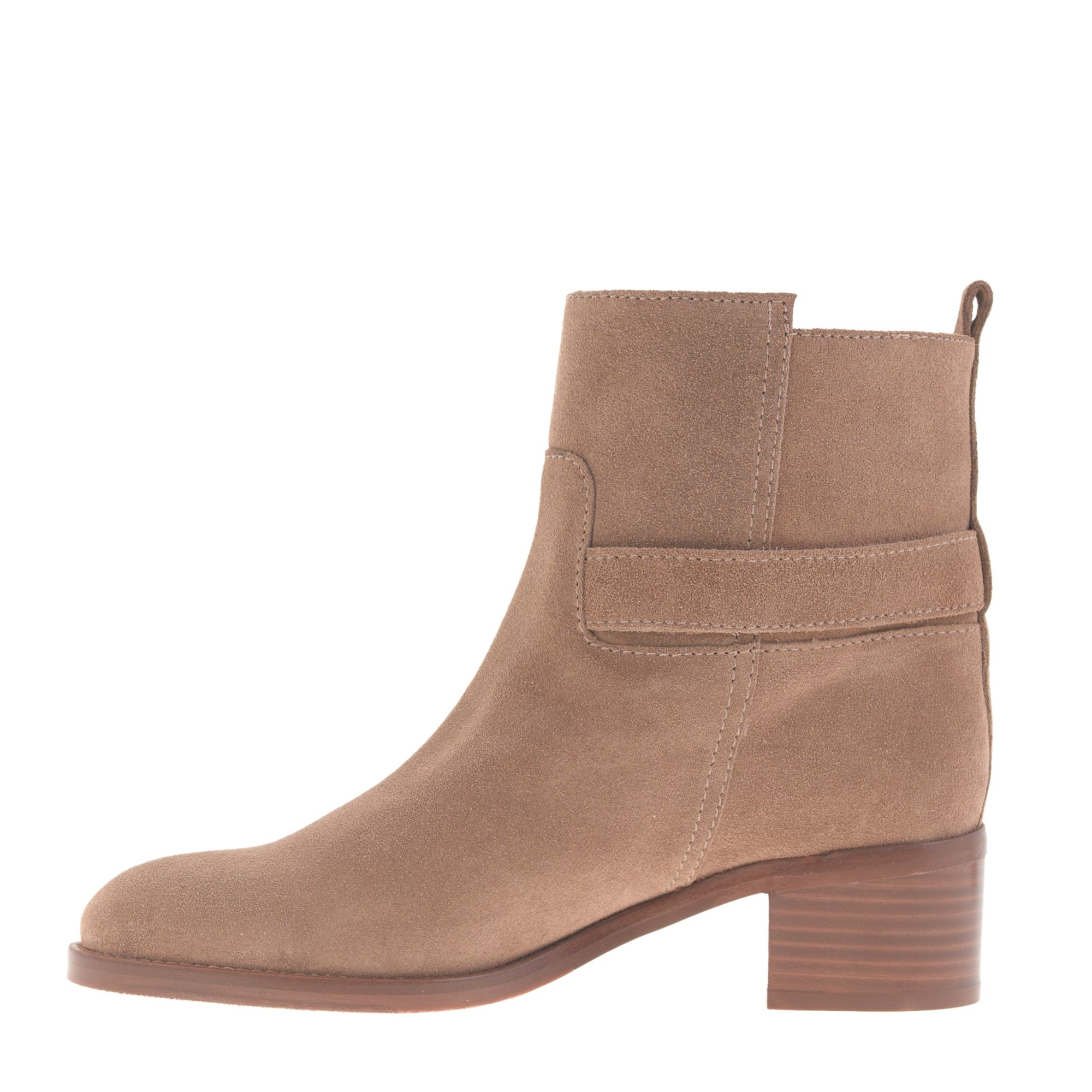 J.Crew Parker Suede Ankle Boots in Brown