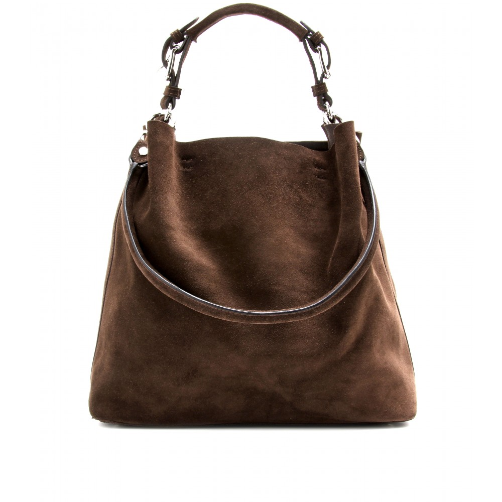 Marni Suede Shoulder Bag in Brown | Lyst