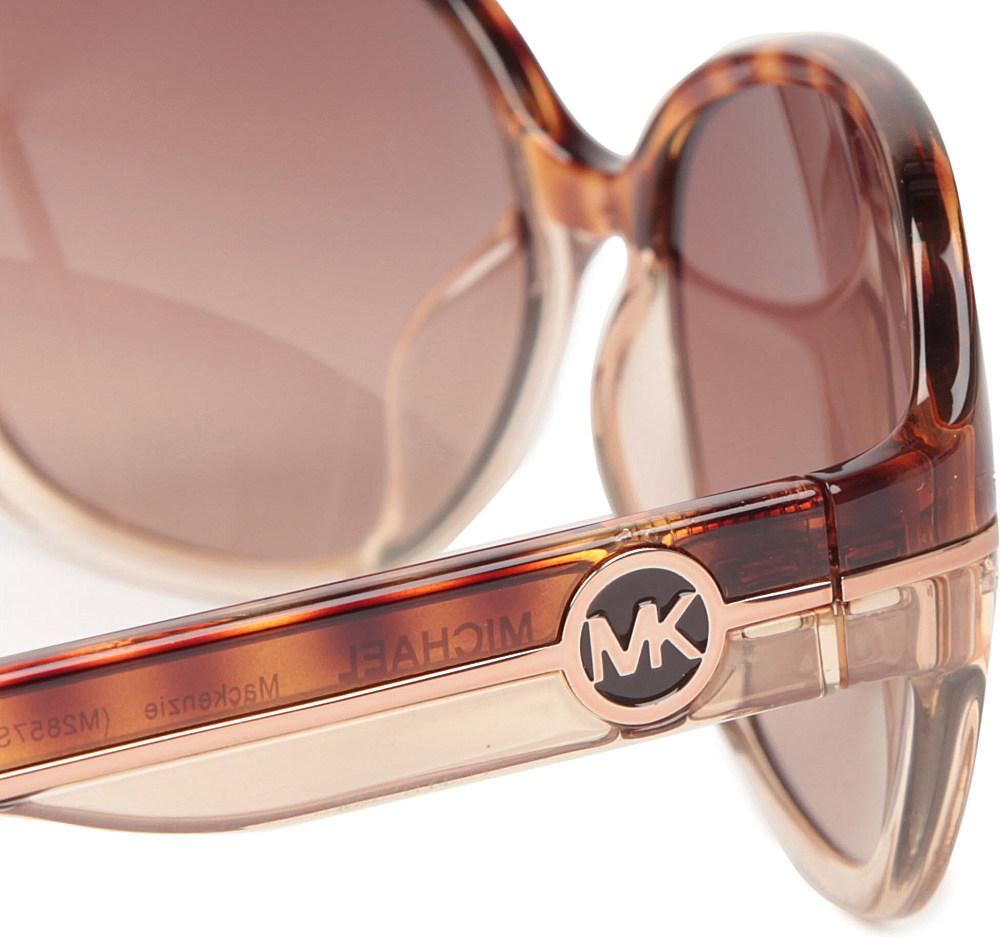Michael Kors Mackenzie Sunglasses  michael kors mackenzie roundframe sunglasses in multicolor lyst