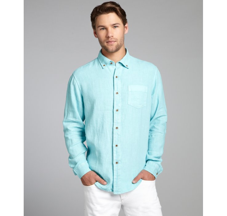 Mens Teal Button Down Shirt | Artee Shirt
