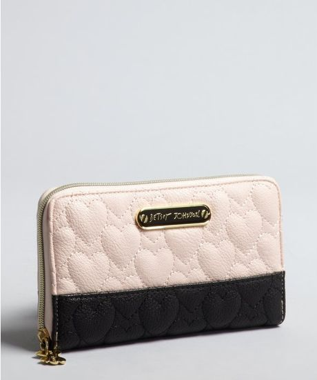 Betsey Johnson Heart Quilted Leather Be My One And Only