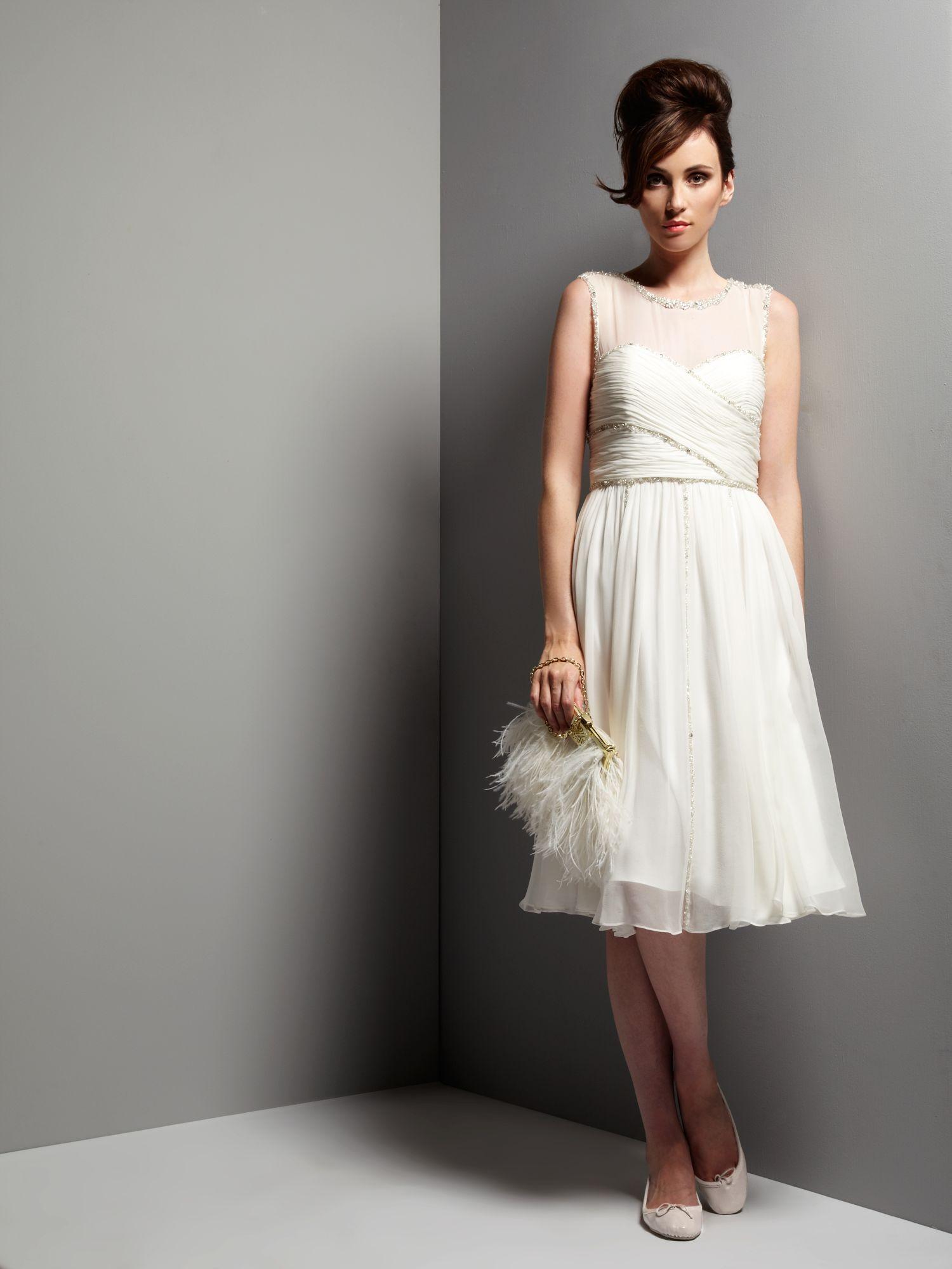 Awesome Ivory Knee Length Wedding Dresses Elaboration - Wedding ...
