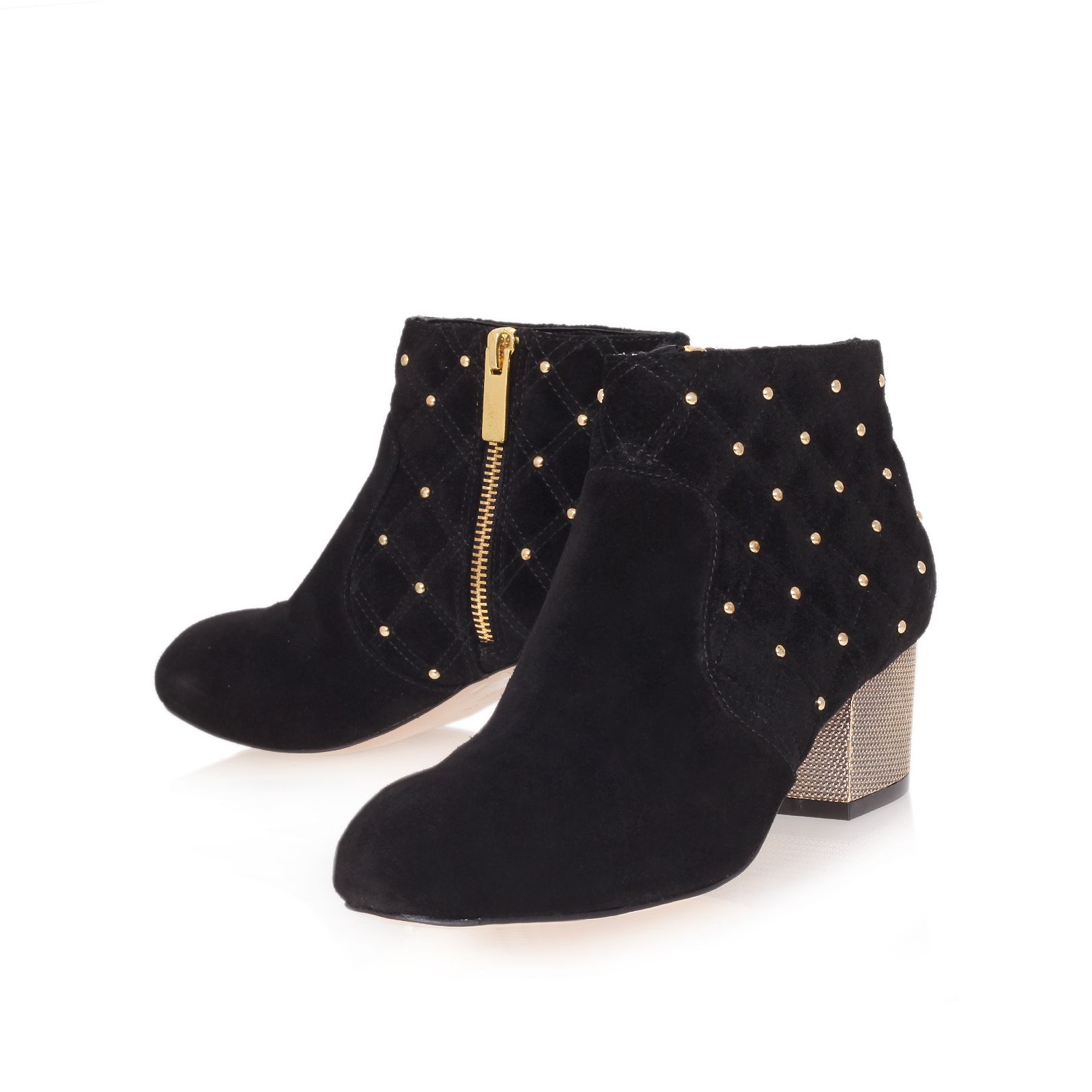 Carvela Kurt Geiger Leather Swallow Ankle Boots in Black