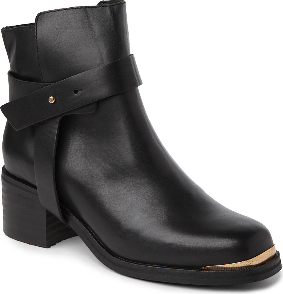 Carvela Kurt Geiger Swap Leather Ankle Boots In Black For Men | Lyst