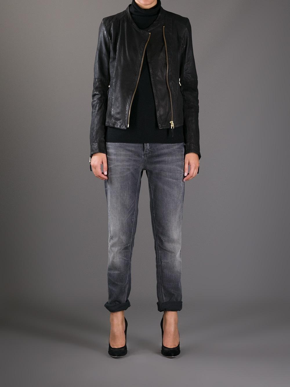 lyst day birger et mikkelsen flore leather jacket in black. Black Bedroom Furniture Sets. Home Design Ideas