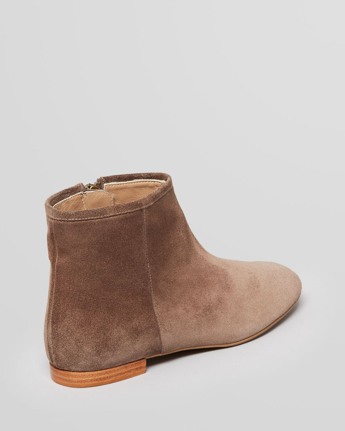 Lyst Delman Flat Booties Mason In Brown