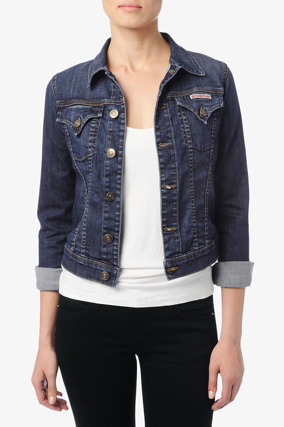 Hudson jeans Signature Jean Jacket in Blue | Lyst