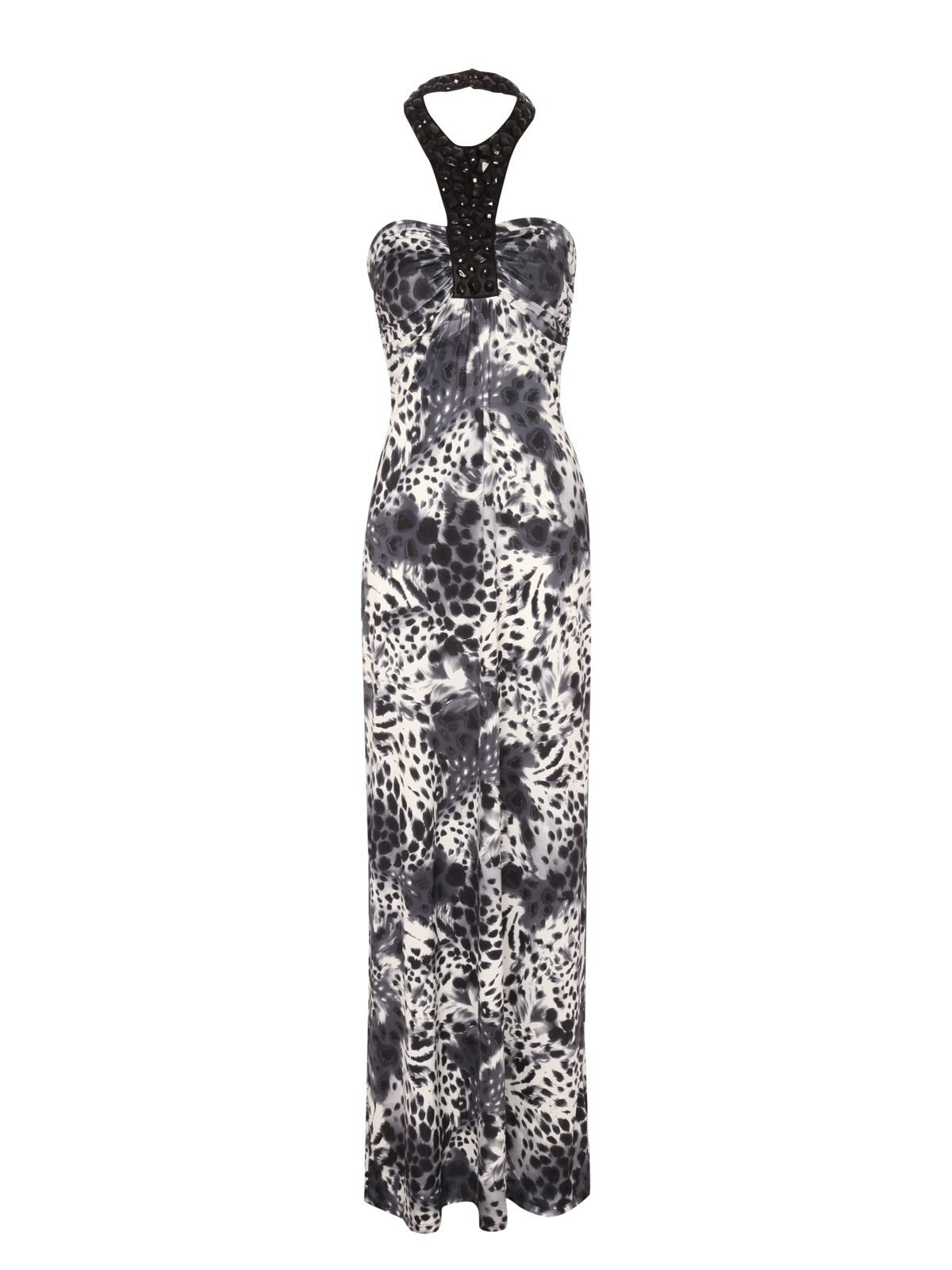 Jane norman maxi dress white and blue