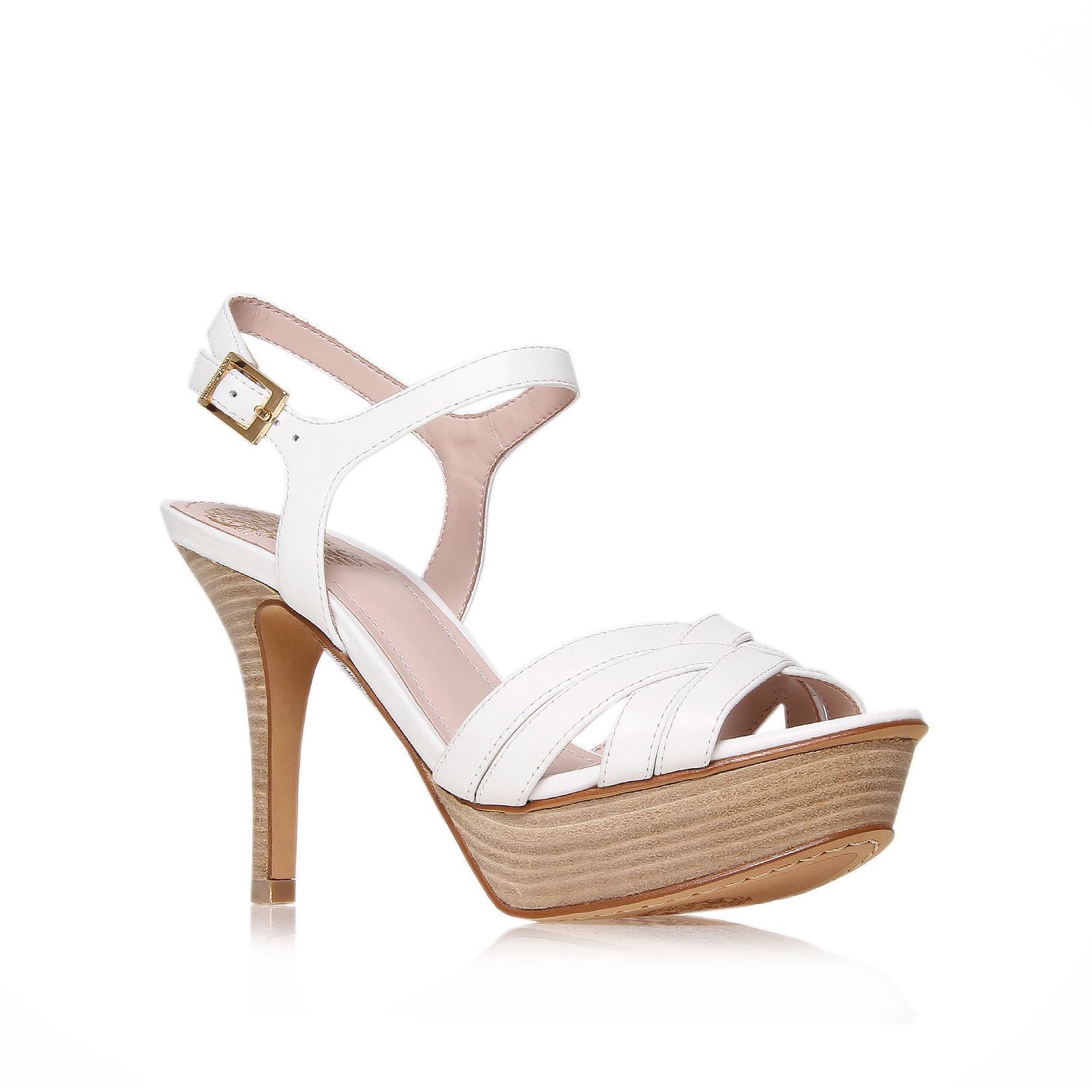vince camuto paden platform sandals in white lyst
