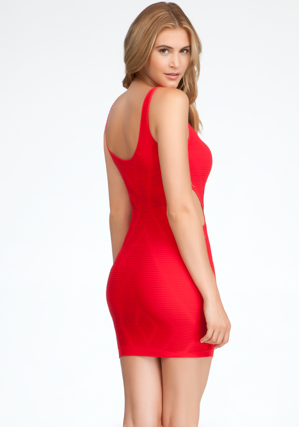 Bebe Veronica Cutout Bodycon Tank Dress In Red Lyst