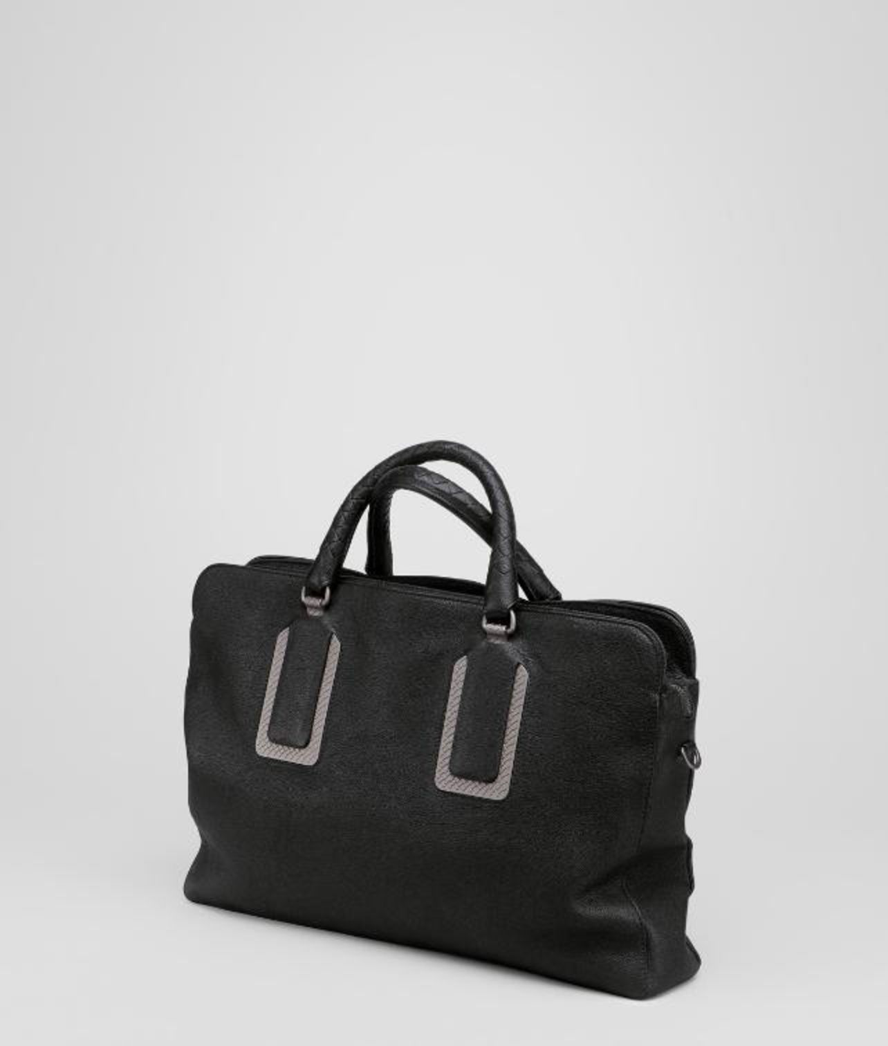 7929127ee5e1 Lyst - Bottega Veneta Nero Buffalo Leather Metal Briefcase in Black ...