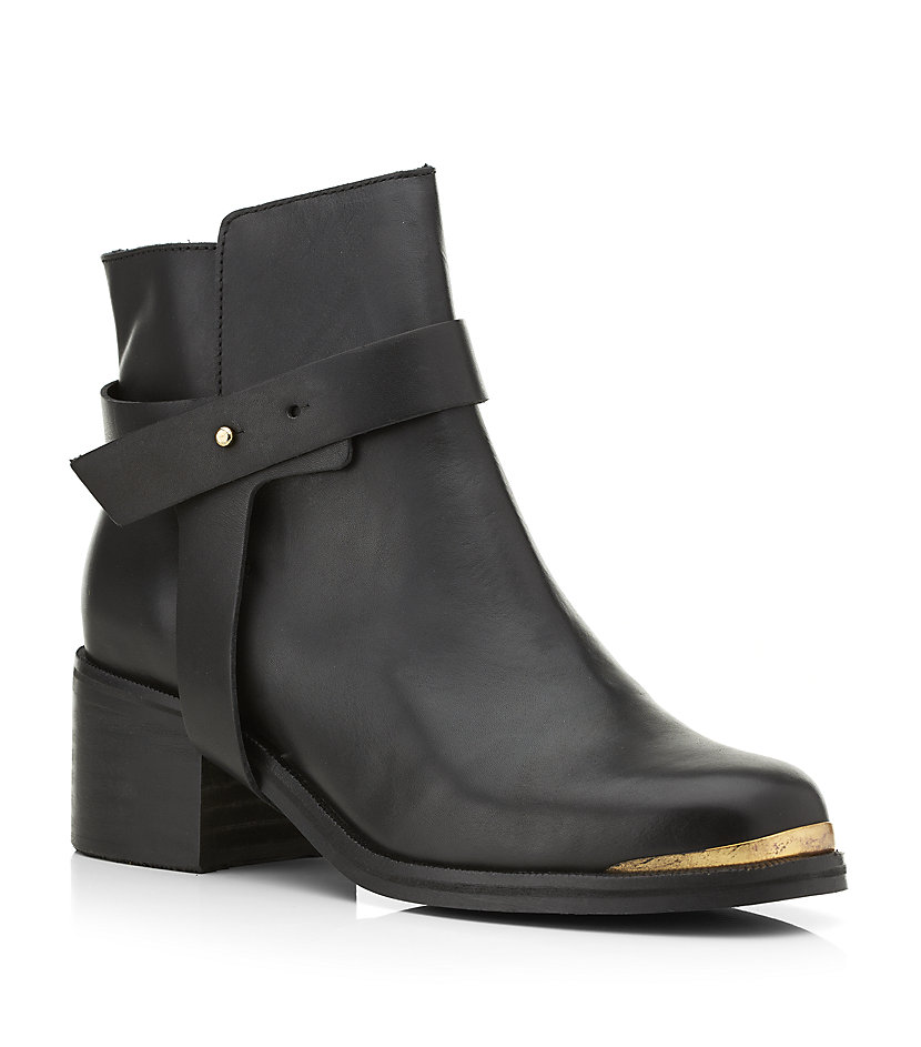 Carvela Kurt Geiger Swap Ankle Boot In Black (gold) | Lyst