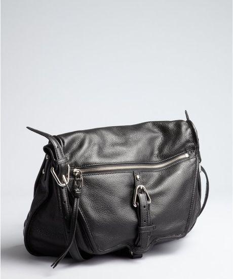 Kooba Black Leather Troi Shoulder Bag in Black