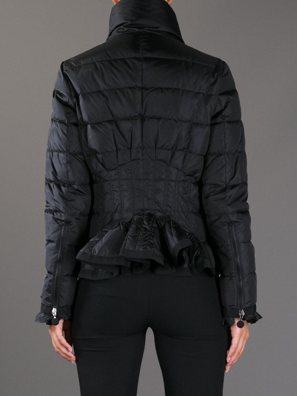 new nwt black moncler women lans lightweight padded puffer jacket size 00 xxs tvardp 1143 28. Black Bedroom Furniture Sets. Home Design Ideas