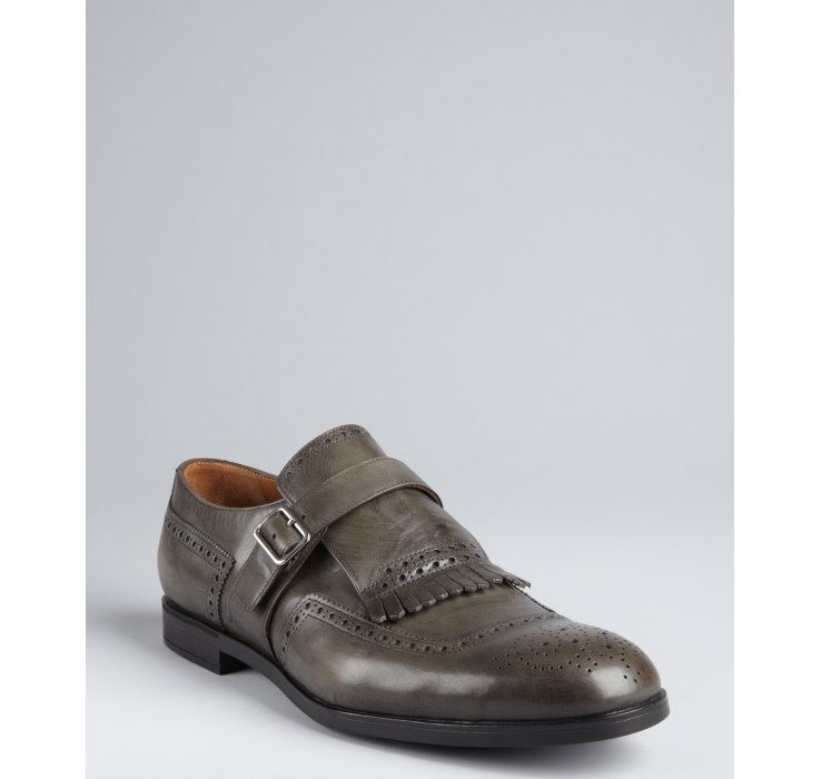 Mens Creepers Shoes Monk Strap