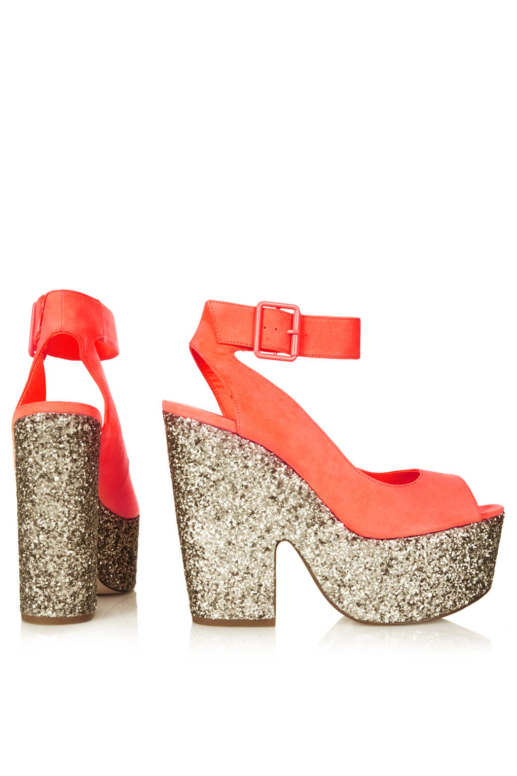 topshop ankle platform shoe in orange lyst