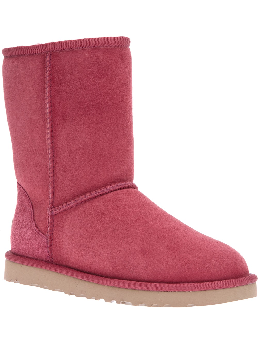 ugg 39 classic short 39 boot in pink lyst. Black Bedroom Furniture Sets. Home Design Ideas