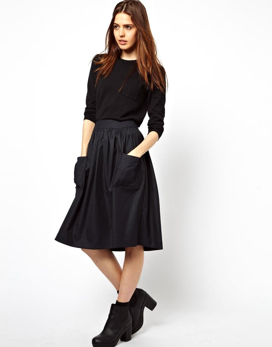 Midi Skirt With Pockets - Dress Ala