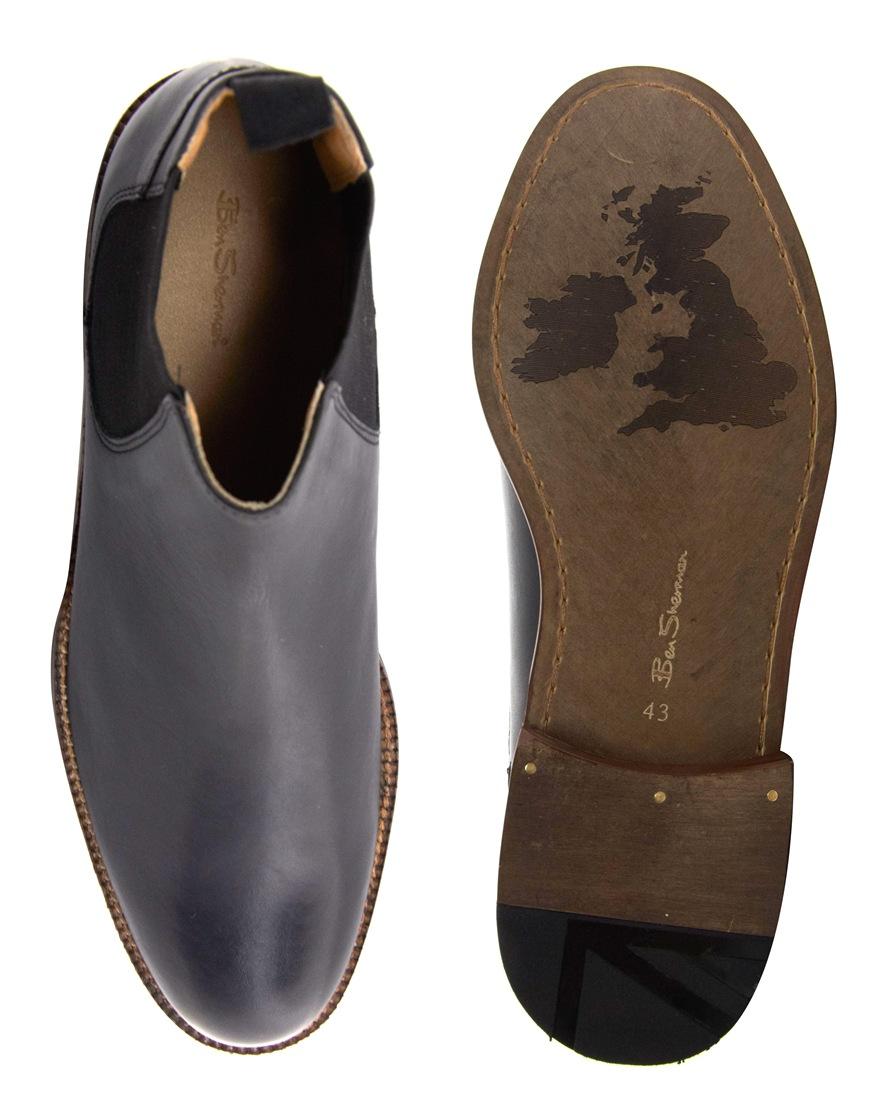f5321616e02 Ben Sherman Black Deon Chelsea Boots for men