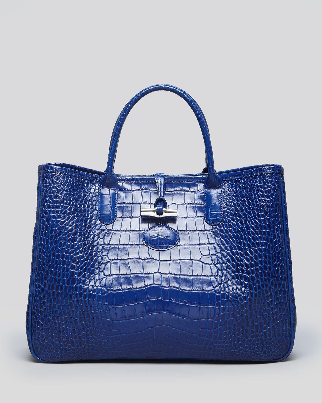 Longchamp Roseau Croc Shoulder Bag 74