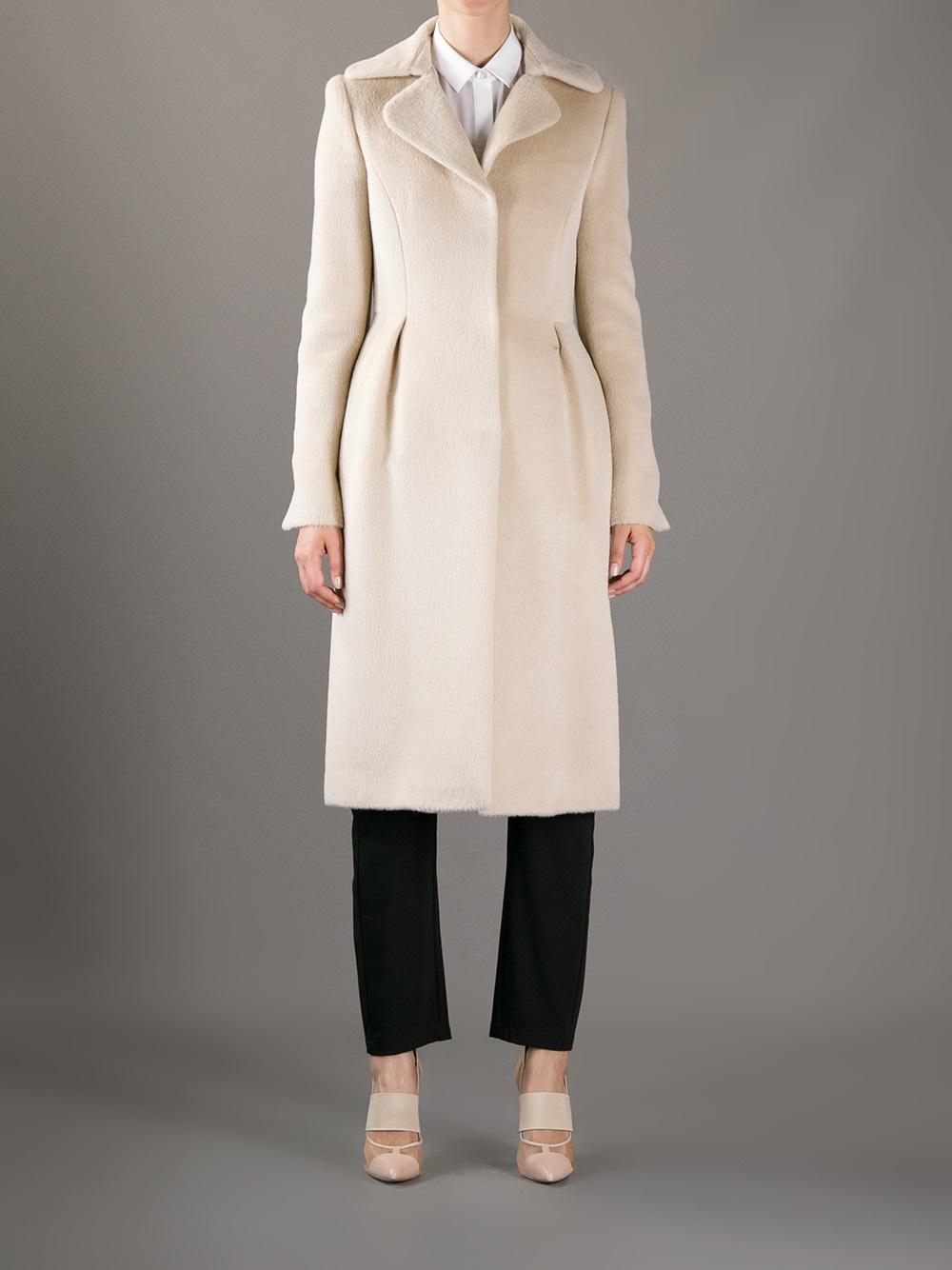 huge discount 8208e f514e Philosophy di Alberta Ferretti Natural Long Coat