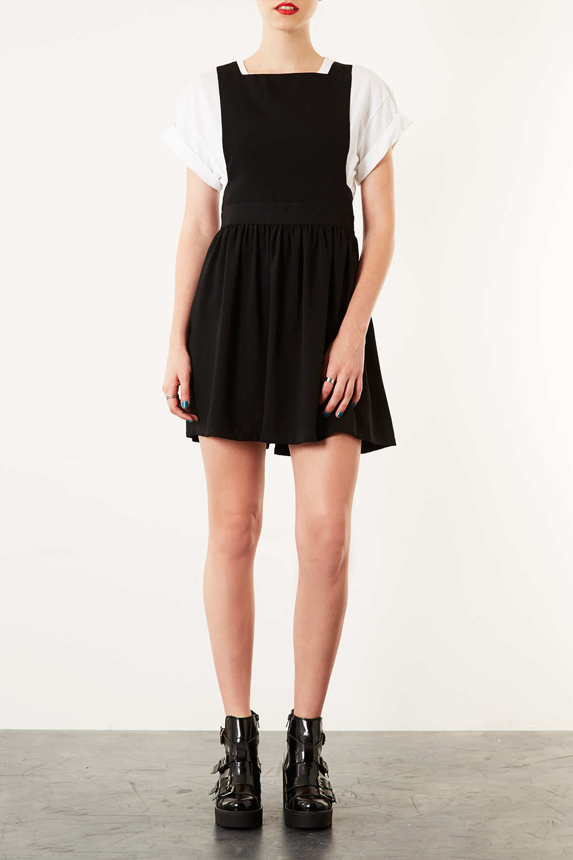 Topshop Wonder Pinafore Dress In Black Lyst